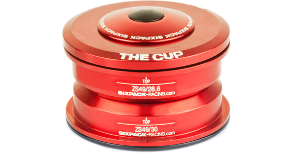 Sixpack The Cup Balhoofdlager ZS49/28.6 I ZS49/30 rood